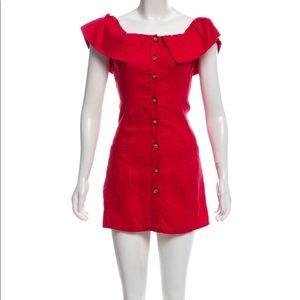 Reformation Red Mini Dress